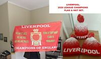 Liverpool 2020 Premier League Champions flag & hat set. Flag size... 90cm x 60cm