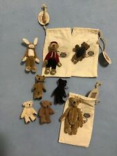ganz cottage collectibles miniatures 3 Bears with tag and bag and others
