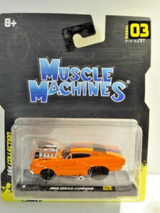 """MUSCLE MACHINES """"NEW 2021"""" ORANGE 1966 DODGE CHARGER"""