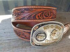 Handmade leather western belt vintage for men