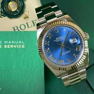 Rolex Datejust 41 126334 Azzuro Blue Fluted Bezel 2021 - Immaculate