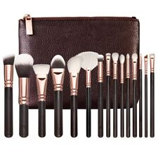 15pcs Rose Golden Makeup Brush Set Eye Shadow Brushes Professional + Luxury Bag