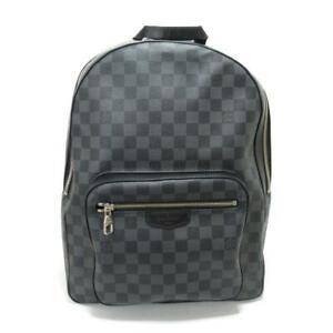 Authentic LOUIS VUITTON Josh rucksack backpack N41473 Damier Graphite Black Used