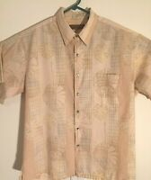 Tori Richard Mens Hawaiian Camp Shirt Floral Button Up Short Sleeve Sz Large