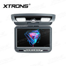 XTRONS 9 Zoll Auto Deckenmonitor mit DVD cd Player Flipdown IR FM USB SD in GRAU