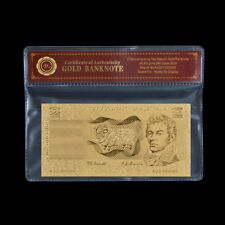 WR Old Australia Bank Notes Polymer $2 Gold Foil Banknote Limited Edition COA