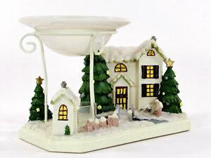 """Yankee Candle WINTER VILLAGE 8"""" Tea Light Tart Warmer Wax Melt Christmas 1157242"""