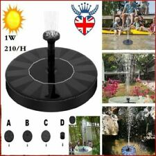 Solar Powered Fountain Bird Bath Fountain Pump Outdoor Garden Pond Pool Water
