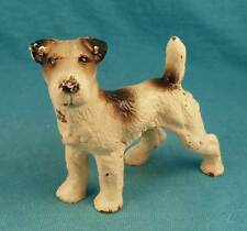 Old Wire fox terrier iron dog paperweight HUBLEY FREE SHIPPNGr vintage antique
