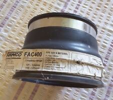 FERNCO FAC400 FLEXIBLE PIPE CONNECTOR, NEW, UNUSED, ADJUSTABLE STAINLESS STEEL H