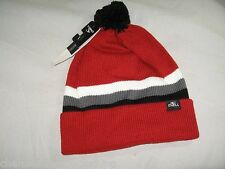 BNWT -  O'NEILL Striped  Oversize Bobble Beanie Hat - Red