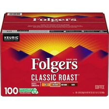 Folgers Classic Roast Coffee K-Cups - (100 ct.) NEW + FREE SHIPPING !!!