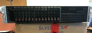 """Supermicro 2U server 2 x E5-2667 v2 CPU's (8 core 4Ghz) 128Gb RAM 16x2.5"""""""