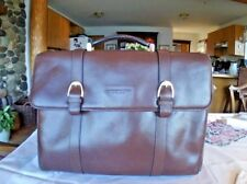 Gianfranco Lotti Pebbled Leather Attache Case Briefcase Satchel Italy