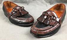 Johnston & Murphy Slip On Loafers Tassels Passport Italy Dress Shoes Size US 9 M