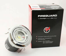 Fire Rated CHROME 240V ready for LED GU10 Recessed Ceiling Downlights £3.35