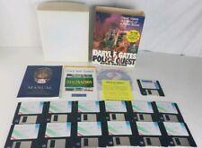 PC DOS: Daryl F. Gates Police Quest 4 : Open Season - Sierra 1993 MS DOS IN BOX