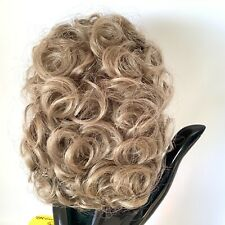 Reddish brown synthetic hair with sausage spiral or ringlet curls and braids. Doll wig Made in Korea Kemper Originals doll wig size 89