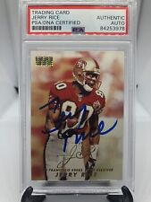 1998 Skybox Jerry Rice Signed Card PSA/DNA Certified Autograph HOF Auto