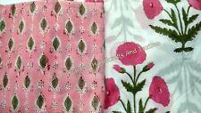 Hand Block Print Cotton Voile Fabric Indian Sanganeri Print Dress Material SG634
