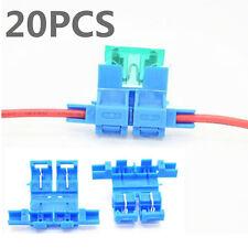 20x Auto Car Blade Fuse Holder ATO Fuse Block Quick Connect Plug Socket 14-18AWG