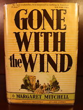 1936 Gone With the Wind 1st Edition DJ Early Printing August Margaret Mitchell