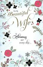 Beautiful Wife Traditional Christmas Greeting Card Luxury Embellished Cards