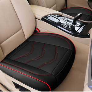 Universal For Four Seasons Car Front PU Leathe Seat Cushion Chairs Pad Black/Red