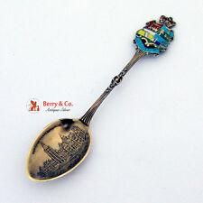 Ottawa Souvenir Spoon Enamel Rodgers Sterling Silver
