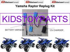 YAMAHA RAPTOR BATTERY REPLUG KITS 4 KIDS RIDE ON TOYS **USE ON ALL 12V RIDE ONS!