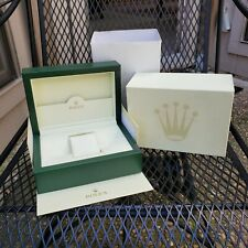Rolex Green Wave Wooden Box With Outer Box And Sleeve