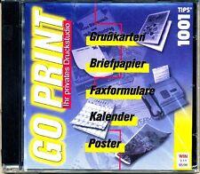 Go Print - Grußkarten , Briefpapier, Fax,  Kalender, Poster (PC, 1999, Jewelcase