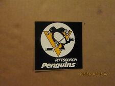 NHL Pittsburgh Penguins Vintage 1980's Black & Yellow Logo Hockey Team Sticker