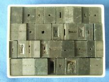 Adana Letterpress Printing 48pt Used Spacers & Quads in plastic box Weight 805g