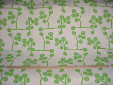 23-1/8Y LAURA AND KIRAN TWIGGY LIME BOHEMIAN FLORAL DRAPERY UPHOLSTERY FABRIC