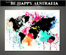 Canvas World Map Abstract Decorative Posters & Prints