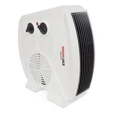 Lloytron F2035 White Staywarm 3000w Upright / Flatbed Fan Heater (BEAB) - New