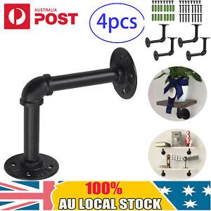4X DIY Industrial Pipe Shelf Tube Rack Wall Brackets Display Brackets Holder AU