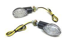 LED Blinker links rechts Satz Oval Carbon E-Geprüft für Roller Scooter
