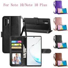 For Samsung Galaxy Note 10/10 Plus Wallet Case Cover Card Pocket with Kickstand