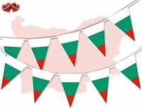 Bulgaria Full Flag Patriotic Themed Bunting Banner 15 Triangle flags National