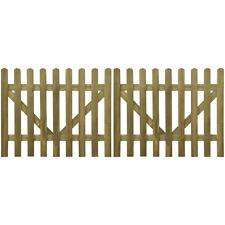 Doppelflügeltor Doppeltor Holz Gartentor Zauntür Hoftor Tür Pforte imprägniert