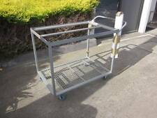 ORDER PICKING STOCK PICKER TROLLEY with 4 TUBS and CLIPBOARD HEAVY DUTY 2 TIERS