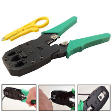 RJ45 Cat5e Cat6 Cat7 Network Ethernet Cable Crimping Crimp Cutter Stripper Tool