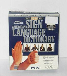 American Sign Language Dictionary 4 CD Set Platinum Edition CD-Rom M. Sternberg