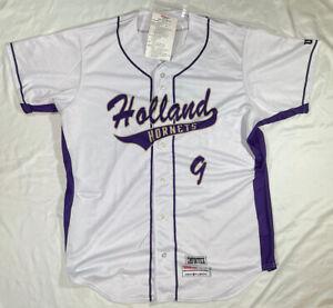 Wilson Holland Hornets baseball jersey Size XL White Purple Holland, TX New