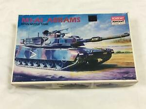 M1-A1 ABRAMS MAIN BATTLE TANK - ACADEMY MINI CRAFT MODEL KIT #1345 - 1:35 SCALE