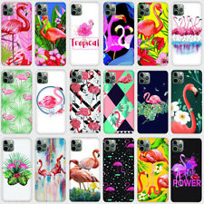 Flamingo Soft Transparent TPU Phone Case Covers For iPhone 8 11 X XS XR Max