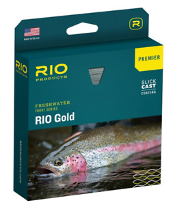 RIO Gold Freshwater Trout Series Slick Cast Fishing Line Moss/Gold WF5F $89.99