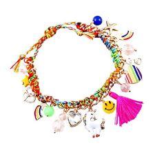 Star, heart, rainbow, pony, smiley face, tassel, glasses charm bracelet